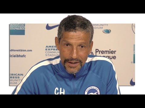 Chris Hughton Full Pre-Match Press Conference - Brighton v Manchester City - Premier League