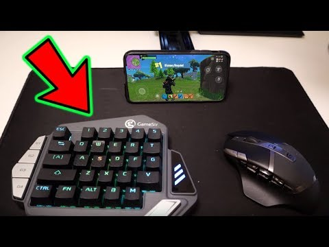 Mouse & Keyboard On Fortnite Mobile | Building/Gameplay