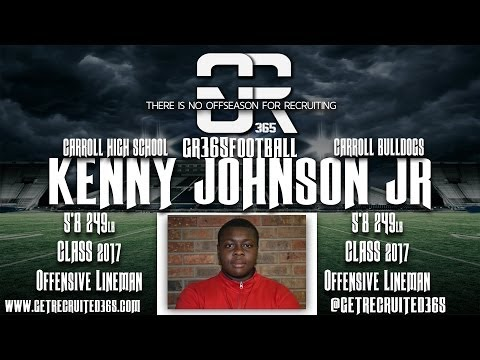 Get Recruited 365 Introduces Kenny Johnson Jr Class 2017 Offensive Guard
