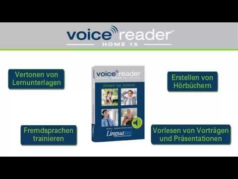 Linguatec Text-to-Speech Voice Reader Home 15: Sprachausgabe in Deutsch, Englisch, Spanisch etc.