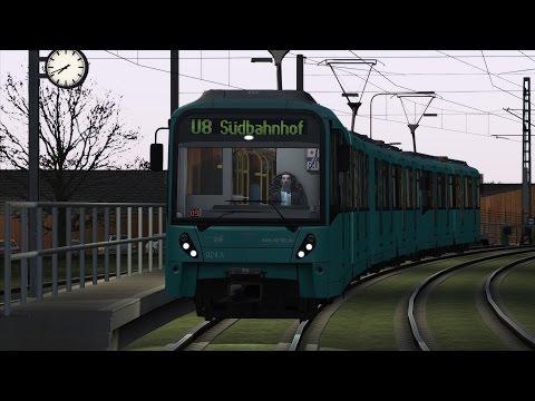 Train Simulator 2016 VGF U-Bahn Frankfurt Am Main linie U8 Riedberg - Sudbahnhof