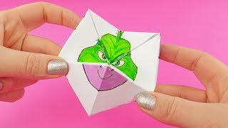 The Grinch 2018 Funny Paper Game With Twilight, Darwin, Starfire | NEVERENDING PAPER TOY