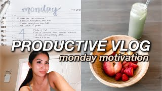 PRODUCTIVE VLOG ☆ career update, aesthetic planning, monday motivation, whipped coffee!