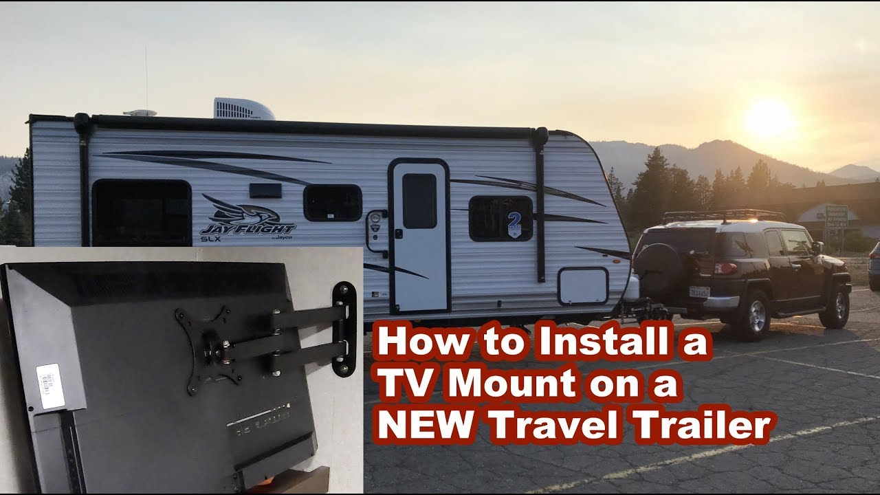 medium resolution of how to install a tv mount on a new travel trailer camper with paper thin walls thought process