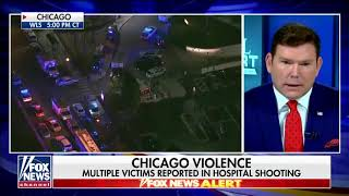 Chicago Hospital Mass Shooting Simulated Reality Coloring Error! Pink, Blue & Orange!