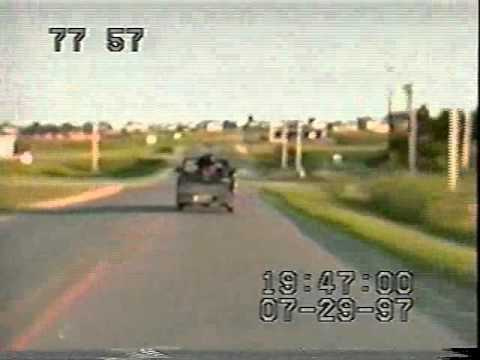 Pickup truck gets owned by high speed...