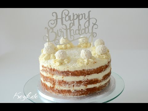 Coconut Sponge Cake with Coconut Syrup Recipe - Keyk.de English