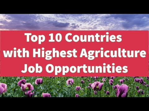 Top 10 Countries With Highest / Best Agriculture Job & Scholarship Opportunities