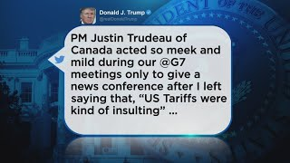 Trump Lashes Out At Trudeau After G7 Summit
