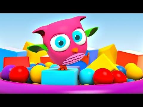 Çizgi Film Baykuş Hop Hop Top Havuzda Eğleniyor! Küçük çocuklar Için