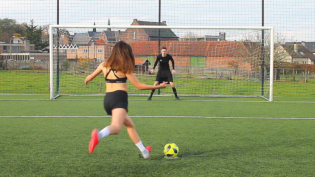 Girls playing strip football