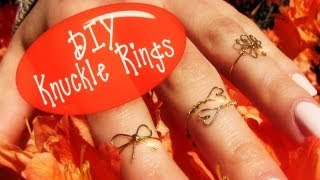 DIY Knuckle Ring! How to Make Wire Rings (3 Rings: Clover, Heart and Bow) Thumbnail