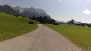 45 Minute Sunshine Cycling Training Workout Alps Germany - Austria Full HD
