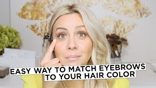 Easy way to match Eyebrows to your Hair Color
