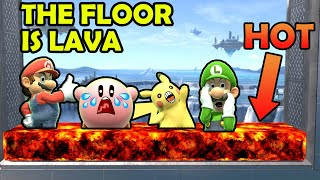 Super Smash Bros. Ultimate - THE FLOOR IS LAVA - Who Can Survive The Longest? #SmashBrosUltimate