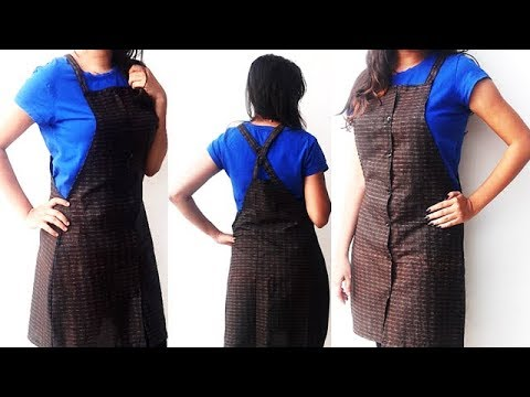 DIY Dungaree Dress Cutting And Stitching Full Tutorial