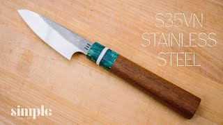 How To Make a Knife - paring knife in s35vn