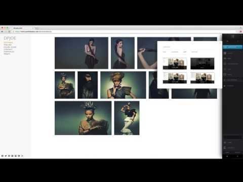 Create an online portfolio website with Portfoliobox 3