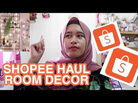 shopee haul home decor- unboxing hijang & hanger kayu