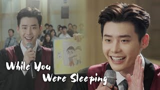 "Lee Jong Suk ""I'm a friend of Santa Claus!"" [While You Were Sleeping Ep 12]"