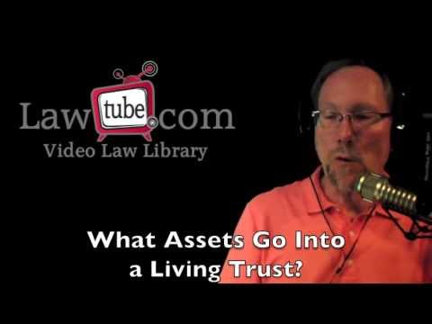 What assets go into a living trust?