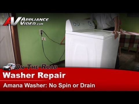 Amana , Whirlpool Washer Repair - Not spinning or draining in normal ...
