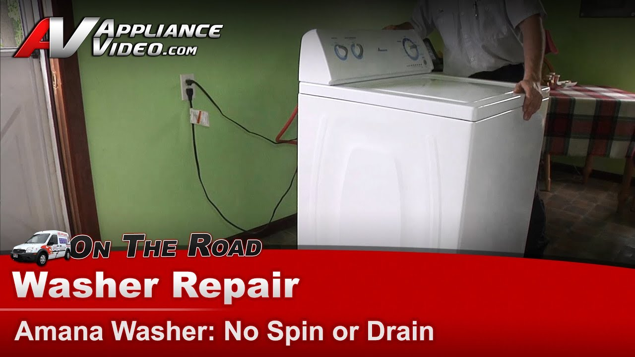 Amana Whirlpool Washer Repair Diagnostic Not Spinning Or Frigidaire Whitewestinghouse Newer Style Dryer Wiring Diagram Draining In Normal Cycles Youtube