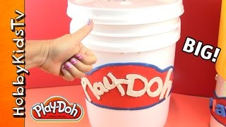 Giant Play-Doh SURPRISE Buckets filled with Toys