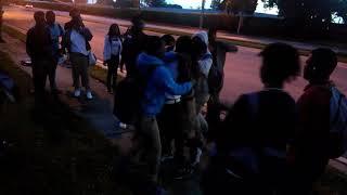 Crazy kids fighting before school part 2