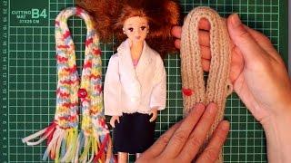 Учимся вязать для куклы - 2-й урок для девочек - для тех, кто не умеет вязать, но хочет научиться