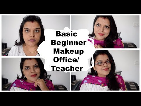 Teacher / Office Everyday Makeup Step By Step in Hindi