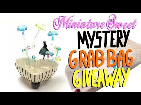 Mystery Grab Bag for resin craft-  GIVEAWAY (CLOSED)-Miniature Sweet- UV resin- DIY- Tutorial