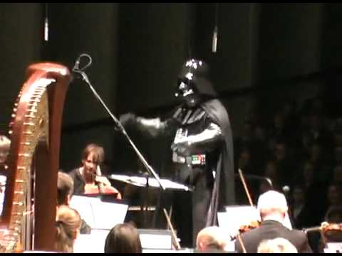 Darth vader leads an Orchestra