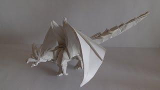 Сложные оригами из бумаги - мистические животные: грифон, оборотень, дракон и ...