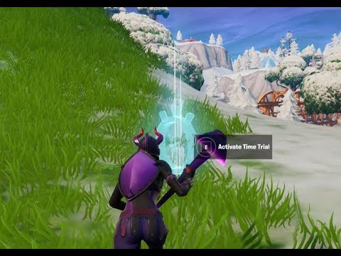 Complete a time trial East of pleasant park or South West of salty springs