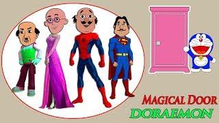 Learn Colors Doraemon Door Magic With Dress Motu Patlu Chaiwala Draw Boxer Nursery Rhymes Song