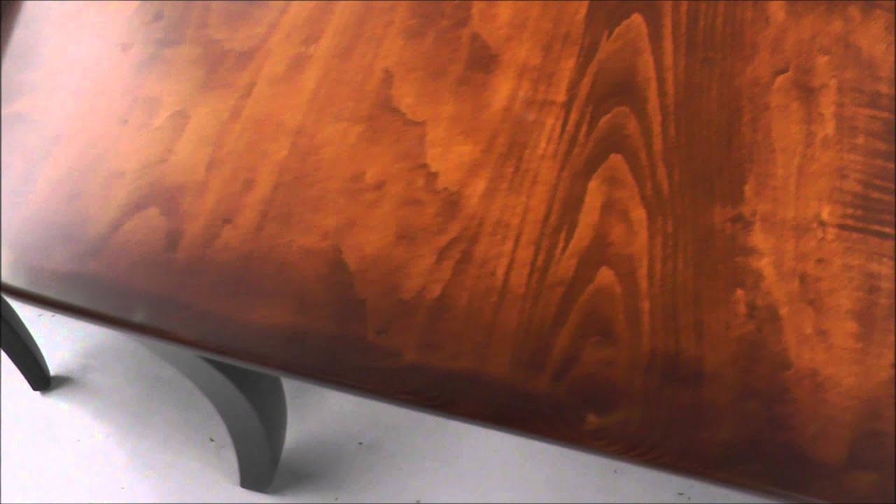 Hardwood Furniture Custom Finishes: Two Tone And Burnishing