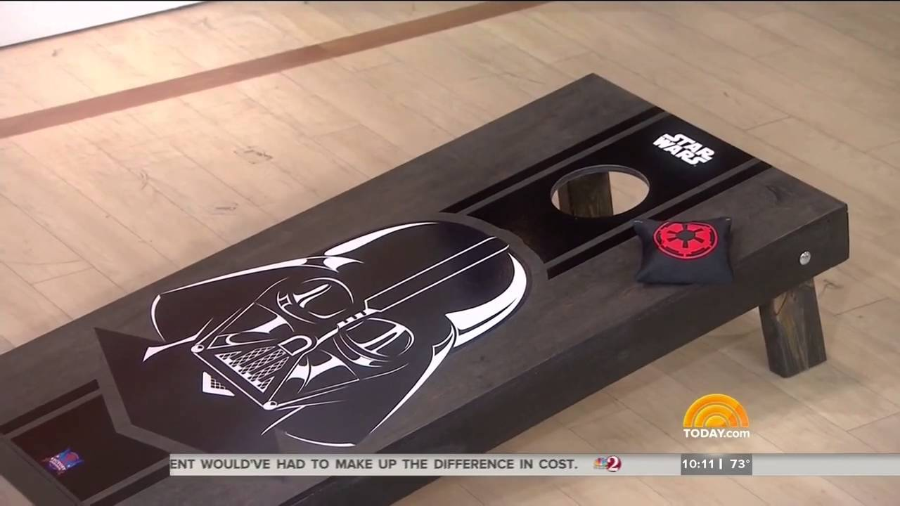 Victory Tailgate Star Wars Cornhole On The Today Show Youtube