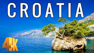 FLYING OVER CROATIA (4K UHD)  Relaxing Music & Amazing Beautiful Nature Scenery For Stress Relief