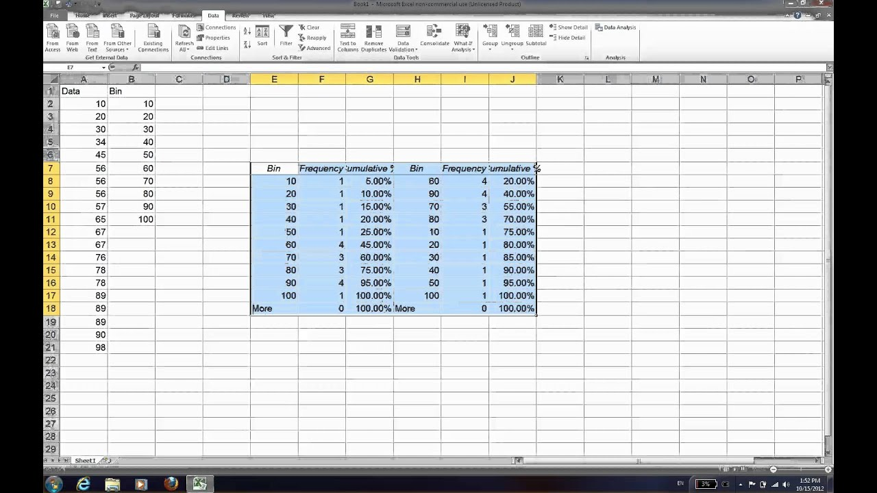 How to create pareto chart on excel youtube how to create pareto chart on excel nvjuhfo Image collections