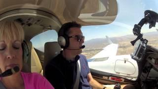 Landing in Benson, AZ  (ATC) || Diamond Twinstar