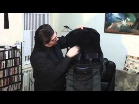 Reunion Blues Artist Eddy Khaimovich on the Reunion Blues Musician's Laptop Attache Bag