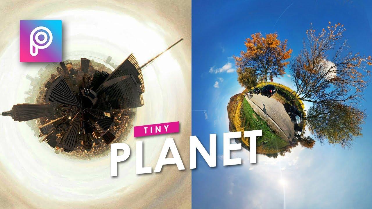 Cara Edit Foto Flat Menjadi Bulat Tiny Planet Picsart Picsart Tutorial Indonesia Youtube