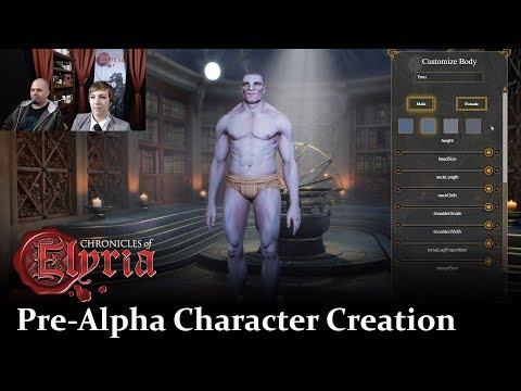 Chronicles of Elyria | Character Creation | Pre-Alpha Live Walkthrough