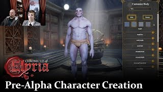 chronicles of Elyria  Character Creation  Pre-Alpha Live Walkthrough