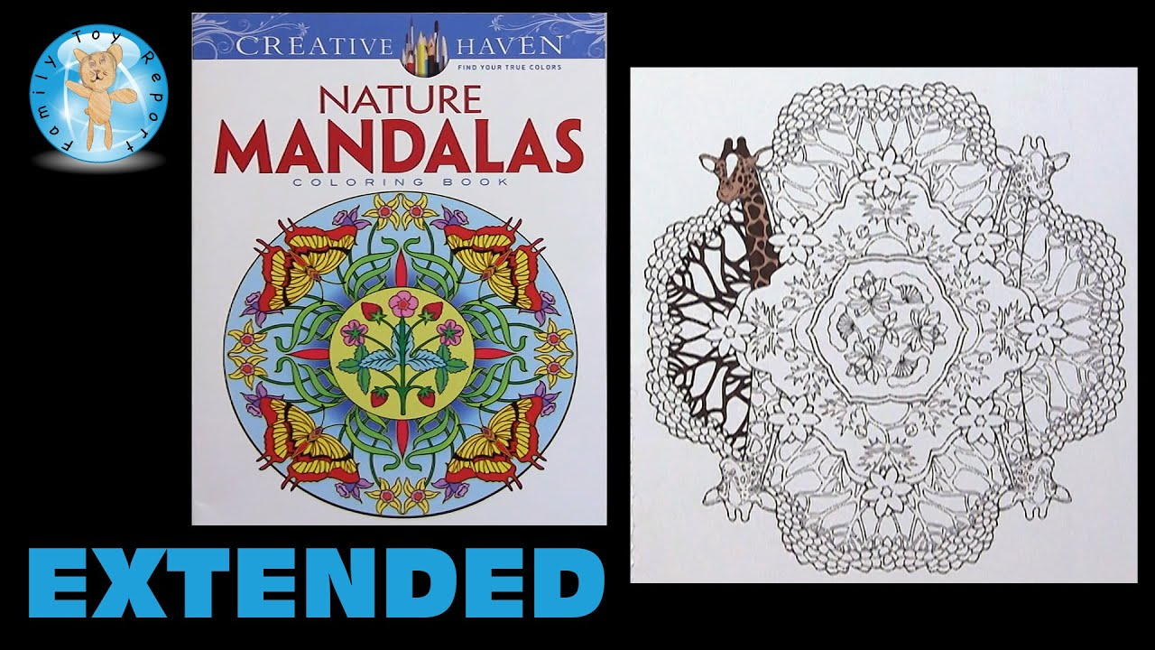 Creative Haven Nature Mandalas Marty Noble Adult Coloring Book Giraffe Extended
