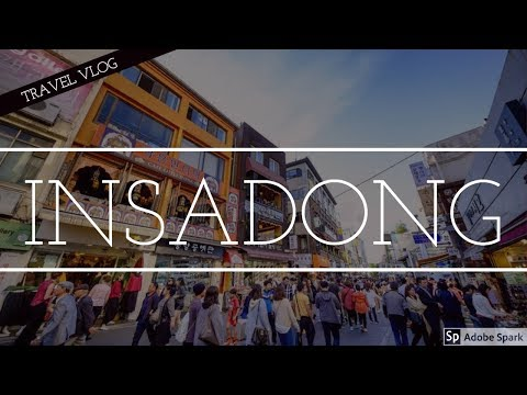 Korea Travel Vlog, visiting INSADONG, Seoul