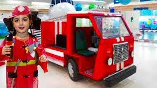 Fire trucks Car / Masha chooses Professions
