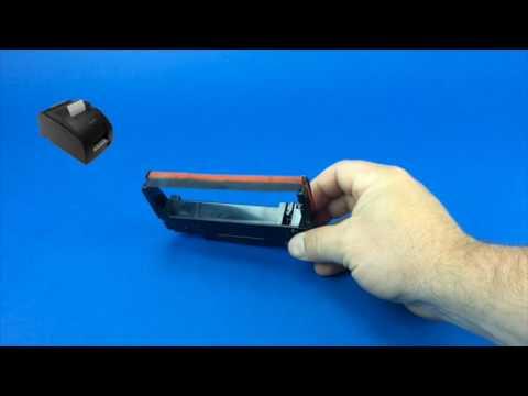 ERC-30/34/38 Cartridge Ribbon, 12 Ribbons/Box - R ERC30