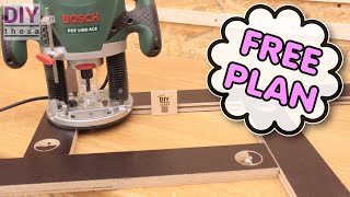 Make your own adjustable DIY Router Template !  A must have Jig !